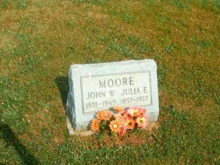 MOORE, JULIA  E - Brown County, Ohio   JULIA  E MOORE - Ohio Gravestone Photos