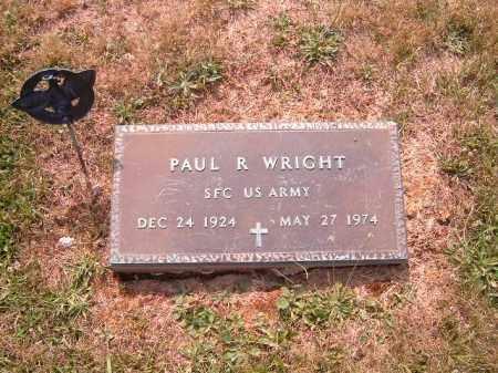 WRIGHT, PAUL  R - Brown County, Ohio   PAUL  R WRIGHT - Ohio Gravestone Photos