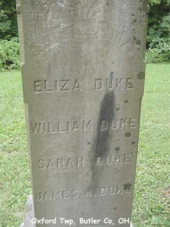 DUKE, ELIZA - Butler County, Ohio | ELIZA DUKE - Ohio Gravestone Photos