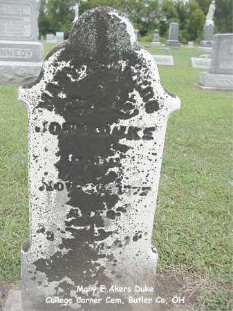 DUKE, MARY - Butler County, Ohio | MARY DUKE - Ohio Gravestone Photos