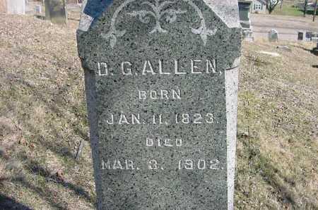 ALLEN, D. G. - Carroll County, Ohio   D. G. ALLEN - Ohio Gravestone Photos