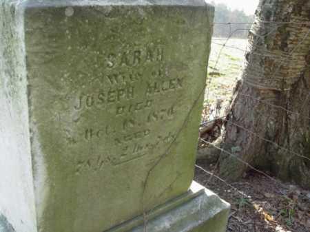 ALLEN, SARAH - Carroll County, Ohio | SARAH ALLEN - Ohio Gravestone Photos