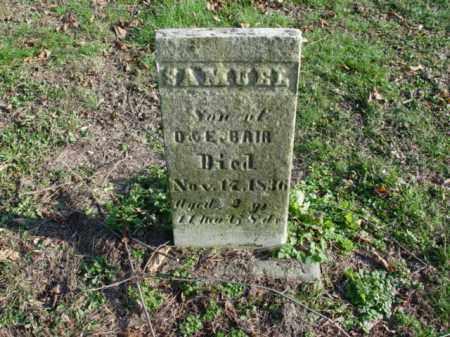 BAIR, SAMUEL - Carroll County, Ohio   SAMUEL BAIR - Ohio Gravestone Photos