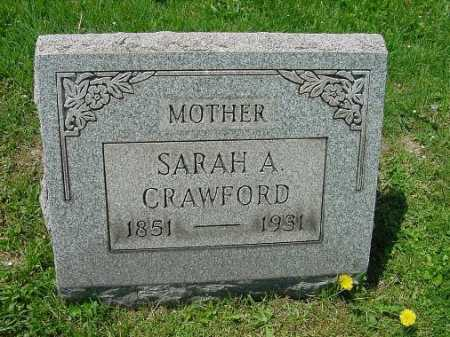 MILLER CRAWFORD, SARAH A. - Carroll County, Ohio | SARAH A. MILLER CRAWFORD - Ohio Gravestone Photos