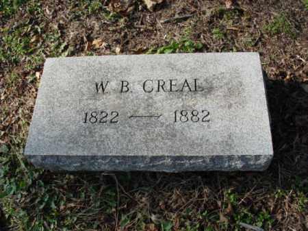 CREAL, W. B. - Carroll County, Ohio   W. B. CREAL - Ohio Gravestone Photos