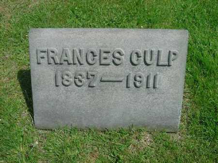 CULP, FRANCES - Carroll County, Ohio | FRANCES CULP - Ohio Gravestone Photos