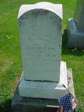 DUMBLETON, SARAH - Carroll County, Ohio   SARAH DUMBLETON - Ohio Gravestone Photos