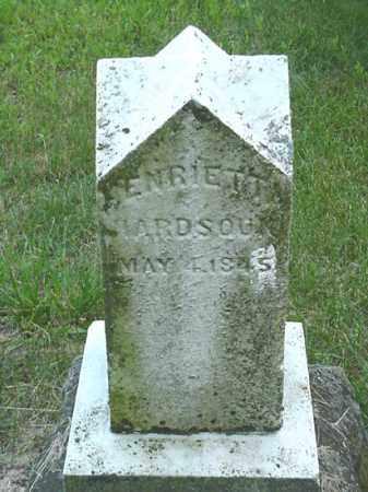 HARDSOUK, HENRIETTA - Carroll County, Ohio   HENRIETTA HARDSOUK - Ohio Gravestone Photos