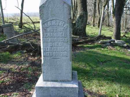 HENDRICKS, MARTHA - Carroll County, Ohio   MARTHA HENDRICKS - Ohio Gravestone Photos