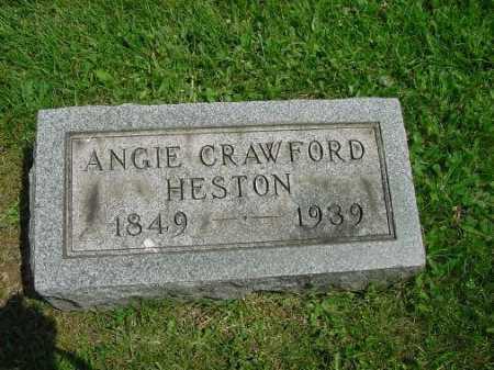 HESTON, ANGIE CRAWFORD - Carroll County, Ohio | ANGIE CRAWFORD HESTON - Ohio Gravestone Photos