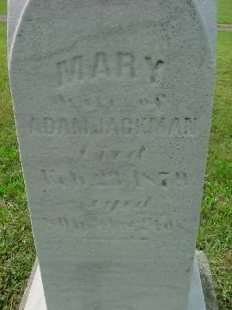 JACKMAN, MARY - Carroll County, Ohio   MARY JACKMAN - Ohio Gravestone Photos