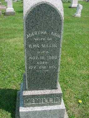 MCMILLIN, MARTHA ANN - Carroll County, Ohio | MARTHA ANN MCMILLIN - Ohio Gravestone Photos