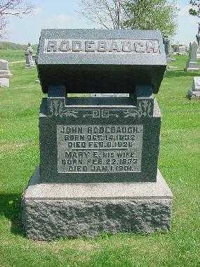 RODEBAUGH, JOHN S. - Carroll County, Ohio   JOHN S. RODEBAUGH - Ohio Gravestone Photos