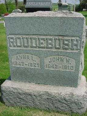 ROUDEBUSH, ANNA L. - Carroll County, Ohio   ANNA L. ROUDEBUSH - Ohio Gravestone Photos