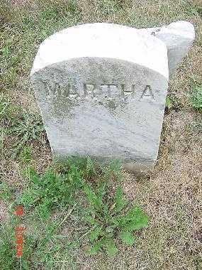 UNKNOWN, MARTHA - Carroll County, Ohio | MARTHA UNKNOWN - Ohio Gravestone Photos
