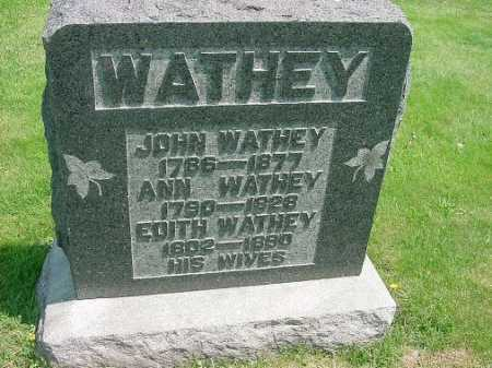 WATHEY, ANN - Carroll County, Ohio | ANN WATHEY - Ohio Gravestone Photos