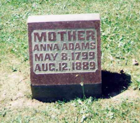 ADAMS, ANNA - Champaign County, Ohio | ANNA ADAMS - Ohio Gravestone Photos