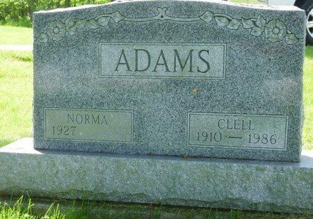 ADAMS, CLELL DEWEY - Champaign County, Ohio   CLELL DEWEY ADAMS - Ohio Gravestone Photos