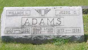 ADAMS, JESSIE CAPTOLIA HEDGES - Champaign County, Ohio | JESSIE CAPTOLIA HEDGES ADAMS - Ohio Gravestone Photos