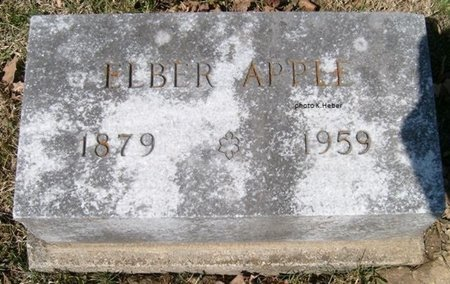 APPLE, ELBER IRA - Champaign County, Ohio | ELBER IRA APPLE - Ohio Gravestone Photos