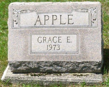 APPLE, GRACE ESTELLA - Champaign County, Ohio   GRACE ESTELLA APPLE - Ohio Gravestone Photos