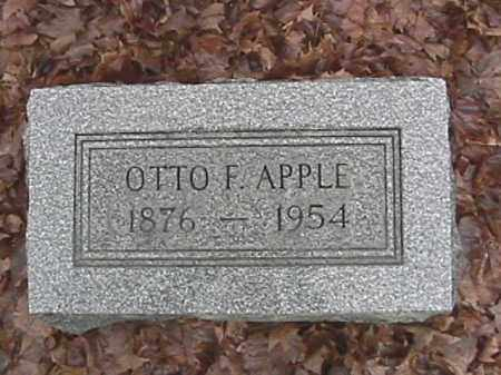 APPLE, OTTO FRANKLIN - Champaign County, Ohio | OTTO FRANKLIN APPLE - Ohio Gravestone Photos