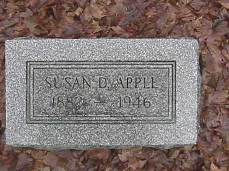 APPLE, SUSAN DORINDA - Champaign County, Ohio   SUSAN DORINDA APPLE - Ohio Gravestone Photos
