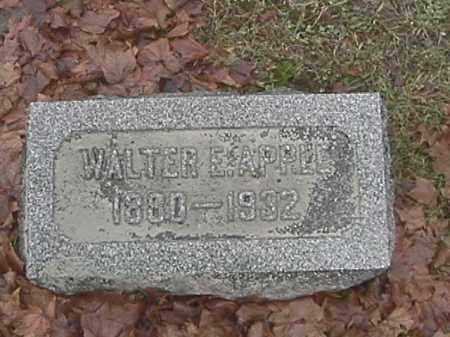 APPLE, WALTER E. - Champaign County, Ohio | WALTER E. APPLE - Ohio Gravestone Photos