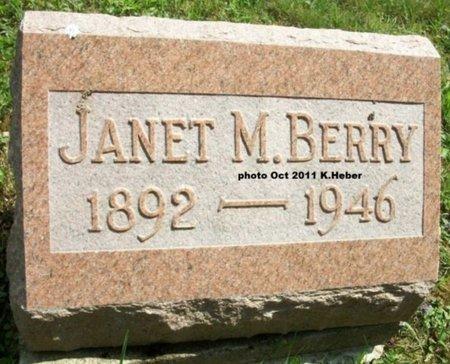 BERRY, JANET MINNIE - Champaign County, Ohio | JANET MINNIE BERRY - Ohio Gravestone Photos