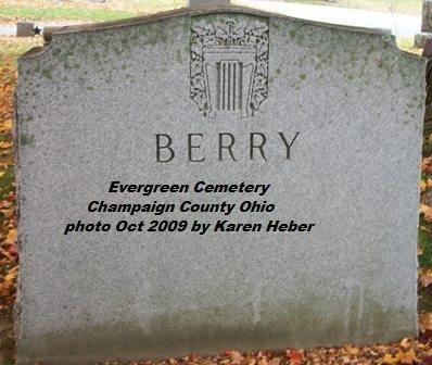BERRY, MONUMENT - Champaign County, Ohio | MONUMENT BERRY - Ohio Gravestone Photos