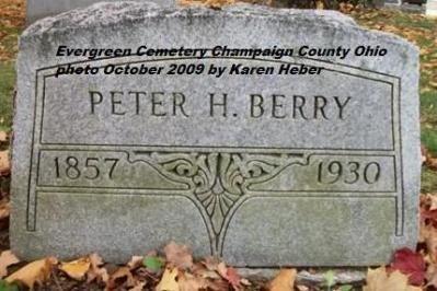 BERRY, PETER HAMILTON - Champaign County, Ohio | PETER HAMILTON BERRY - Ohio Gravestone Photos