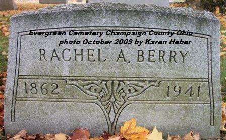 BERRY, RACHEL A - Champaign County, Ohio | RACHEL A BERRY - Ohio Gravestone Photos