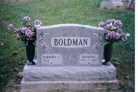 BOLDMAN, DONALD E - Champaign County, Ohio | DONALD E BOLDMAN - Ohio Gravestone Photos