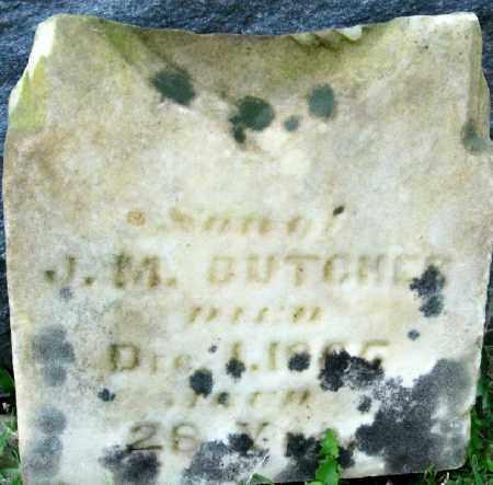 BUTCHER, JAMES M.S. - Champaign County, Ohio | JAMES M.S. BUTCHER - Ohio Gravestone Photos