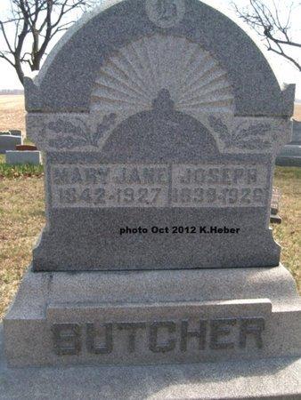 BUTCHER, JOSEPH - Champaign County, Ohio   JOSEPH BUTCHER - Ohio Gravestone Photos