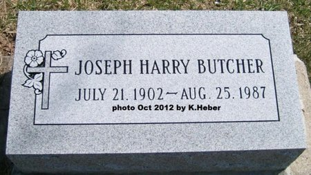 BUTCHER, JOSEPH HARRY - Champaign County, Ohio | JOSEPH HARRY BUTCHER - Ohio Gravestone Photos