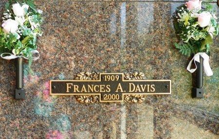 DAVIS, FRANCES A. - Champaign County, Ohio | FRANCES A. DAVIS - Ohio Gravestone Photos
