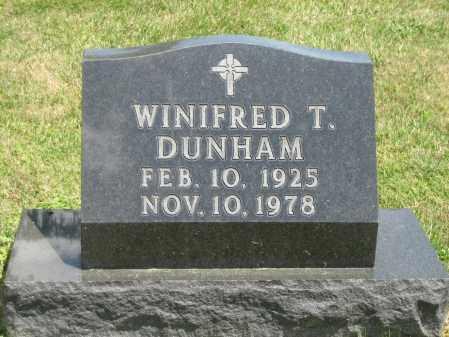 DUNHAM, WINIFRED T. - Champaign County, Ohio   WINIFRED T. DUNHAM - Ohio Gravestone Photos