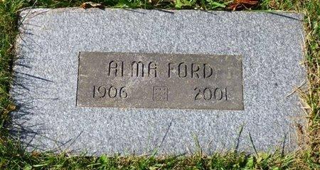 FORD, ALMA - Champaign County, Ohio | ALMA FORD - Ohio Gravestone Photos