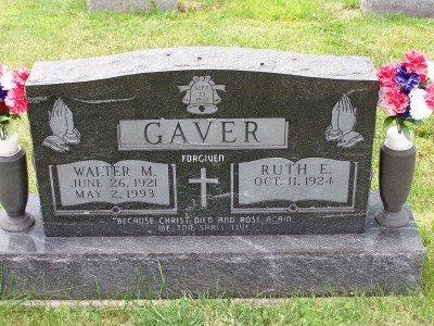 GAVER, RUTH - Champaign County, Ohio   RUTH GAVER - Ohio Gravestone Photos