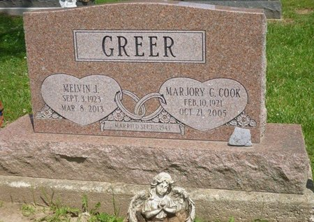 """GREER, MARJORY CATHERINE """"MARGIE"""" - Champaign County, Ohio 