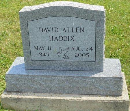 HADDIX, DAVID ALLEN - Champaign County, Ohio | DAVID ALLEN HADDIX - Ohio Gravestone Photos