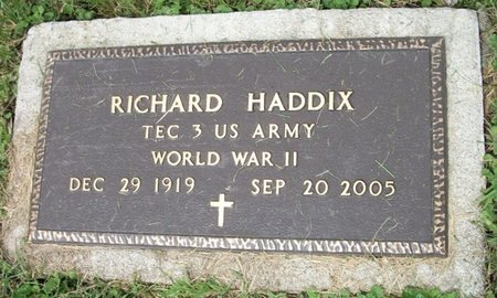 HADDIX, PAUL RICHARD - Champaign County, Ohio   PAUL RICHARD HADDIX - Ohio Gravestone Photos