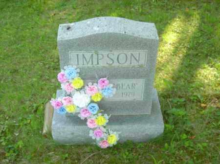 "WILLIAM ""BEAR"" IMPSON, HAROLD - Champaign County, Ohio | HAROLD WILLIAM ""BEAR"" IMPSON - Ohio Gravestone Photos"