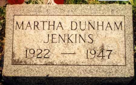 DUNHAM JENKINS, MARTHA - Champaign County, Ohio | MARTHA DUNHAM JENKINS - Ohio Gravestone Photos