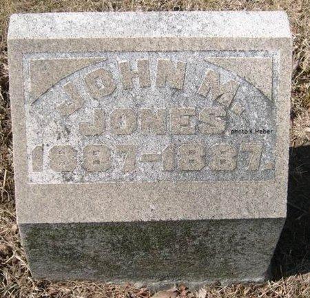 JONES, JOHN MCMORRAN - Champaign County, Ohio   JOHN MCMORRAN JONES - Ohio Gravestone Photos