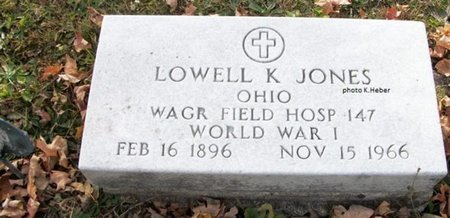 JONES, LOWELL KENNETH - Champaign County, Ohio | LOWELL KENNETH JONES - Ohio Gravestone Photos
