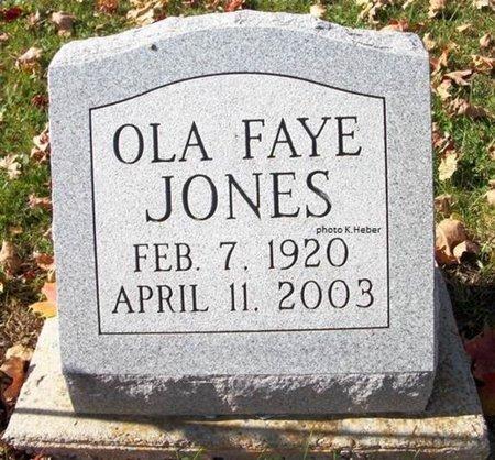 JONES, OLA FAYE - Champaign County, Ohio | OLA FAYE JONES - Ohio Gravestone Photos
