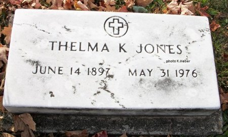 JONES, THELMA E - Champaign County, Ohio | THELMA E JONES - Ohio Gravestone Photos