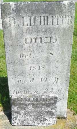 LICHLITER, D. - Champaign County, Ohio | D. LICHLITER - Ohio Gravestone Photos